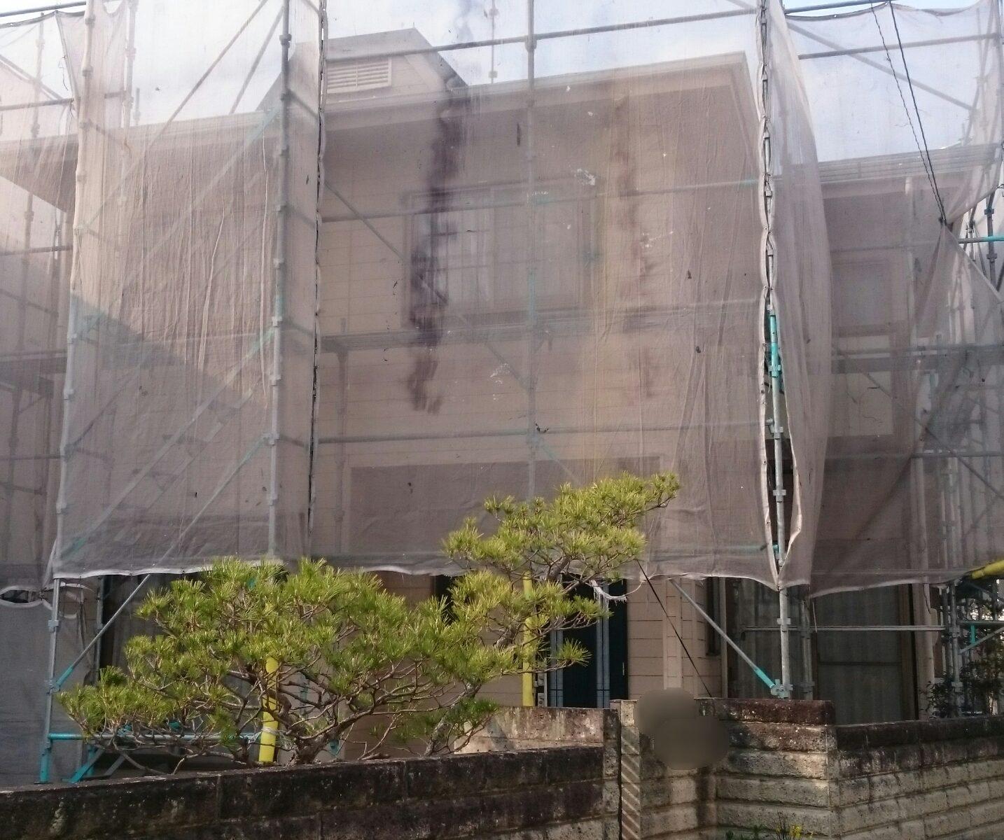 岡山市中区Y様邸足場