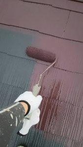 岡山市中区Y様邸 屋根中塗り