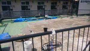 岡山市某学生寮屋上防水工事