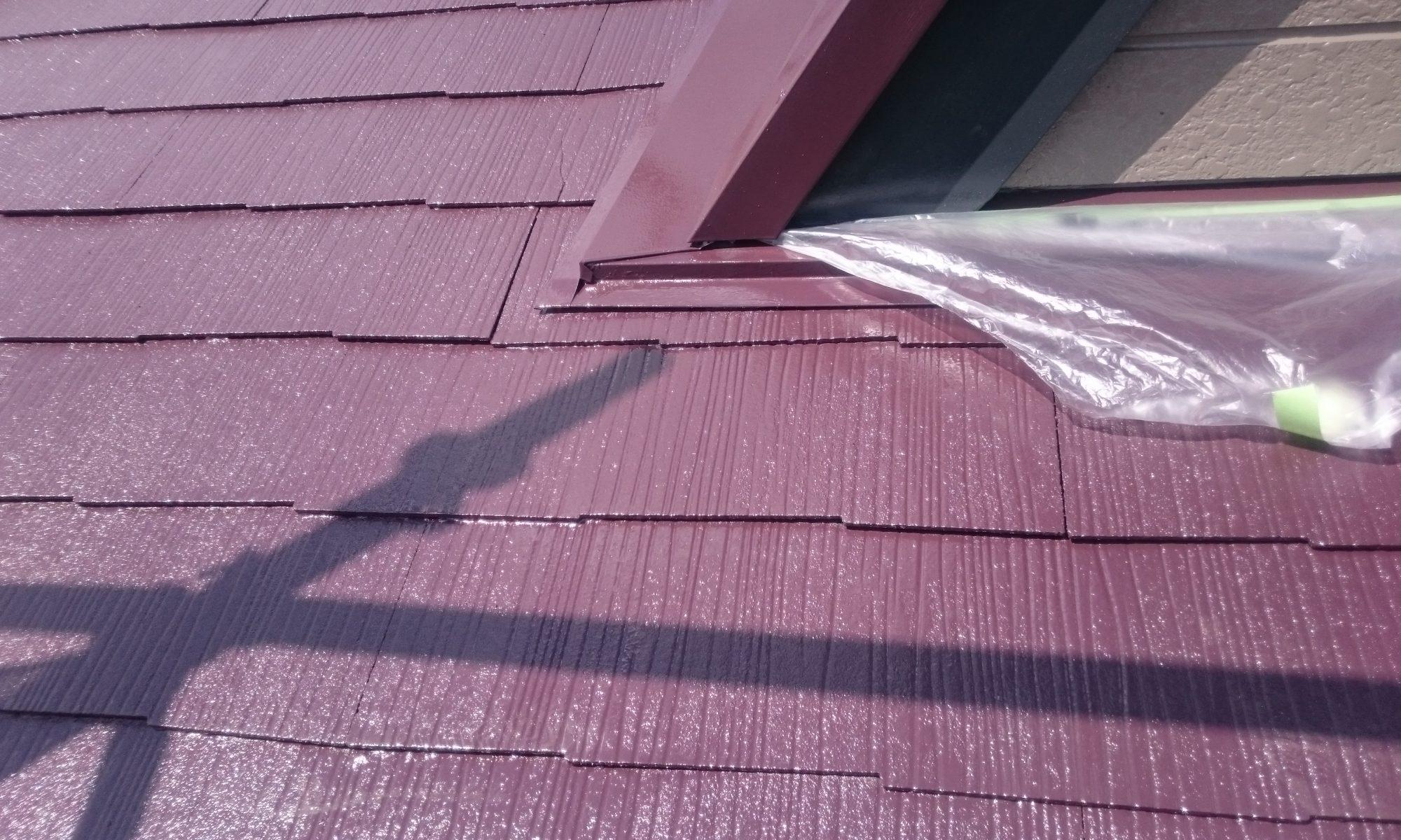 岡山市中区Y様邸屋根上塗り完成