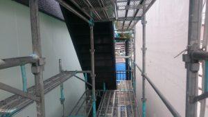 岡山市某学生寮外階段