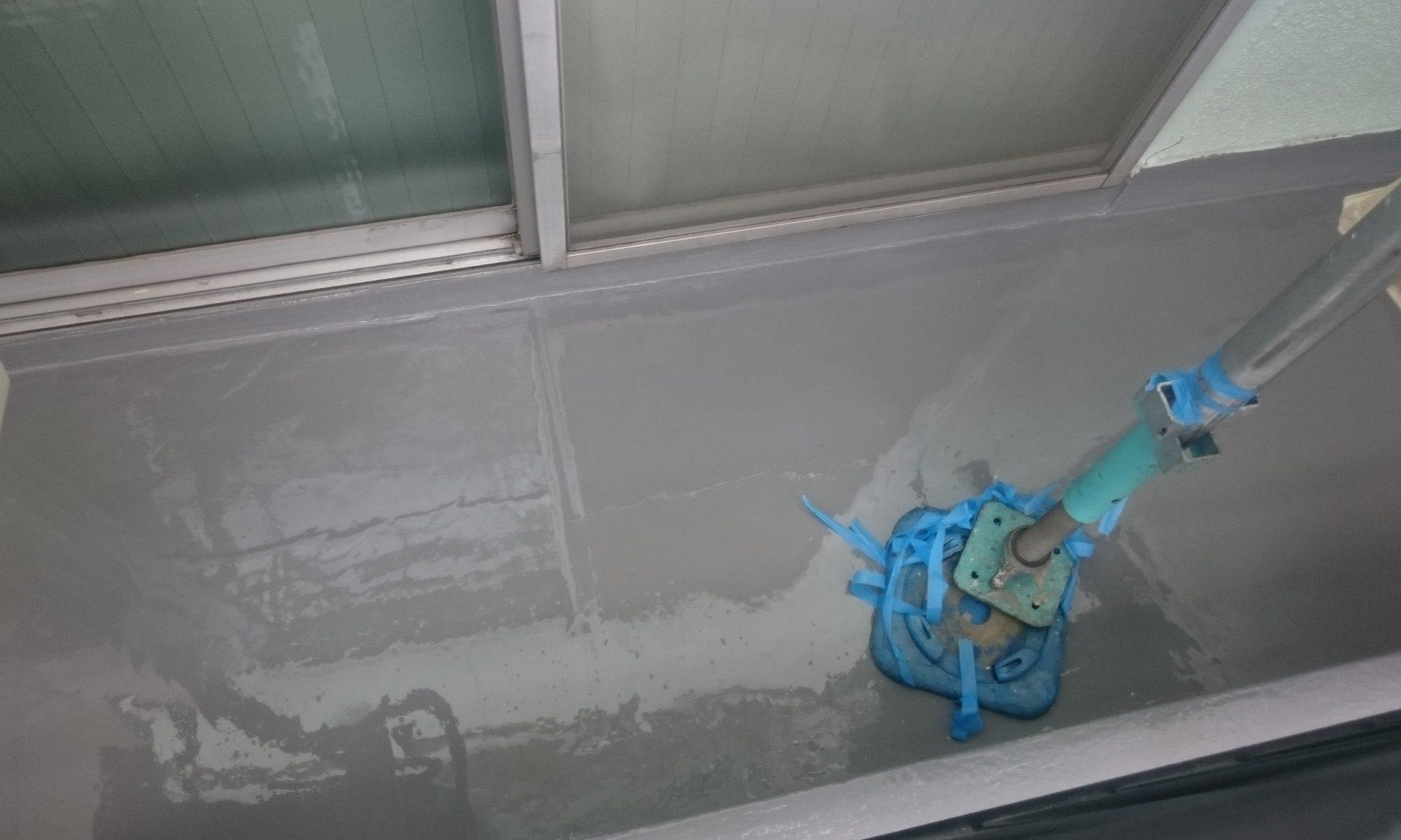岡山市某学生寮ベランダ防水