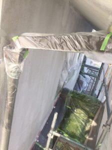 岡山市北T区様邸 外壁下塗り