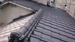 岡山市中区H様邸 屋根塗装完成
