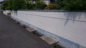 岡山市北区T様邸 外塀施工前