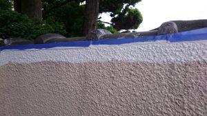 岡山市北区T様邸 塀 上塗り