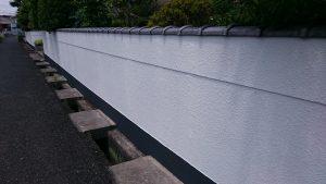 岡山市北区T様邸 塀完成