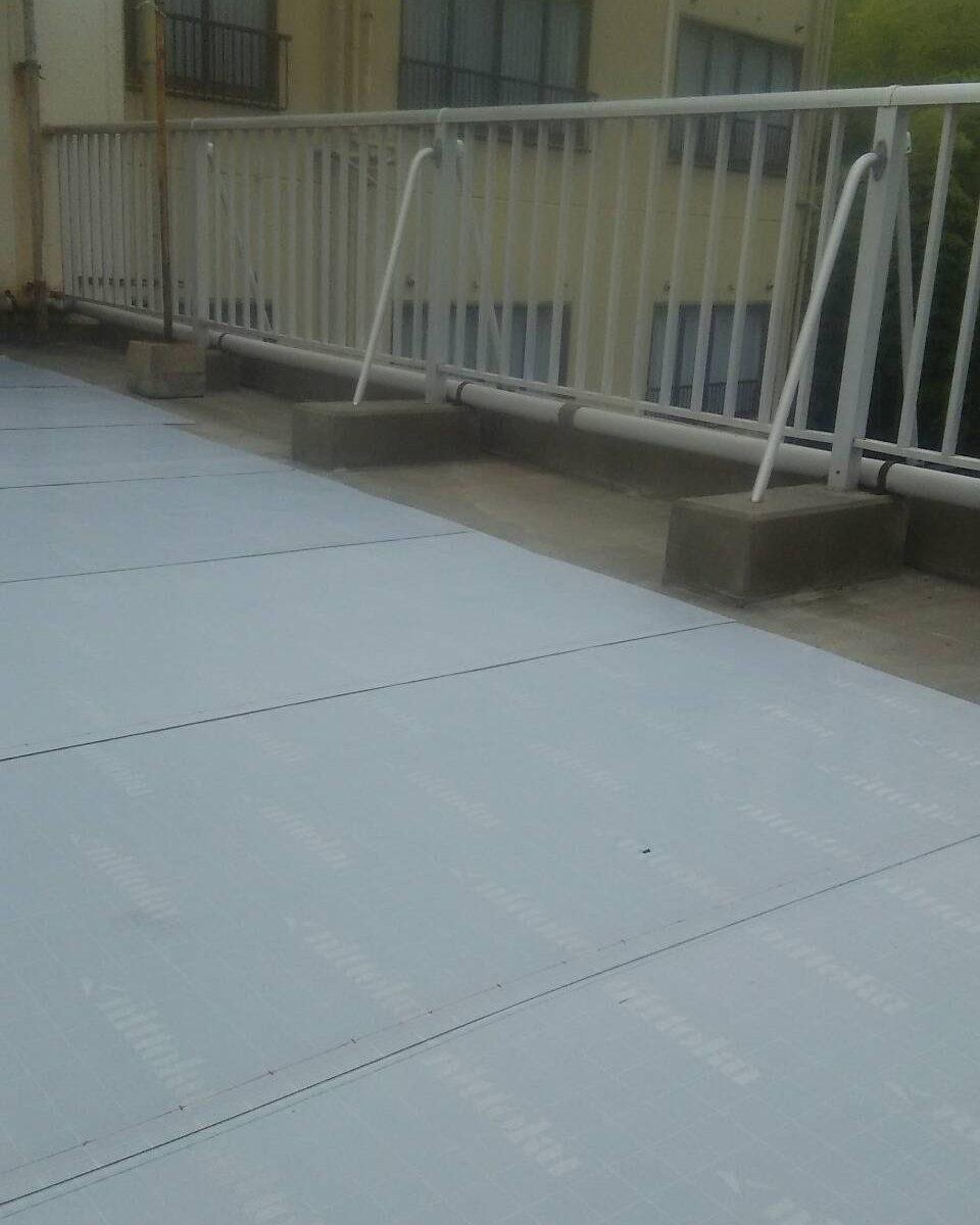 岡山市 某温泉旅館屋上防水塗装工事