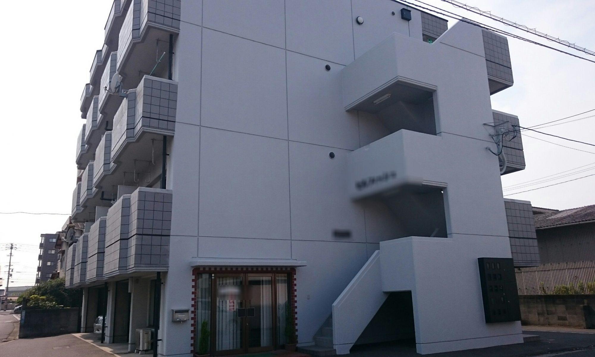 岡山市北区某マンション足場解体