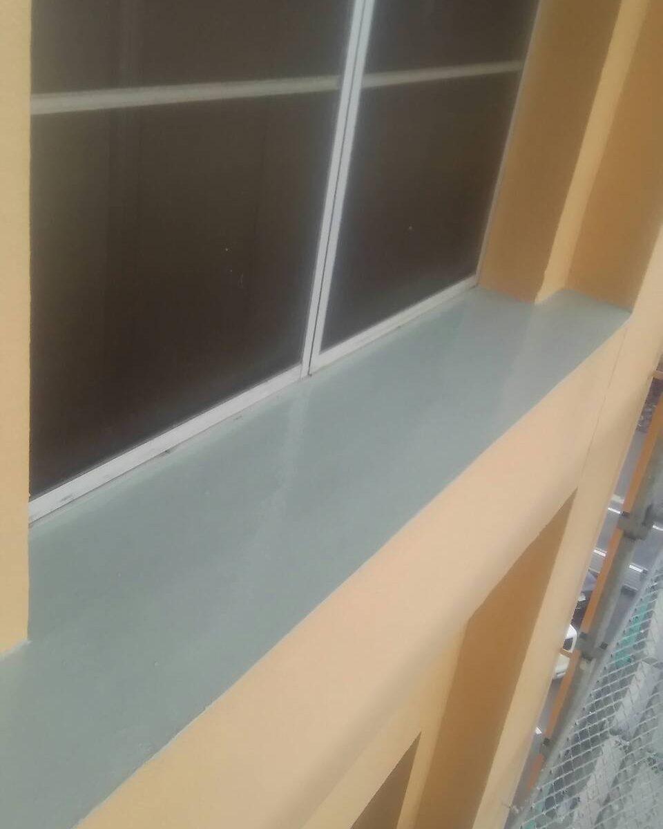 岡山市某ビジネスホテル 防水部ウレタン樹脂塗り