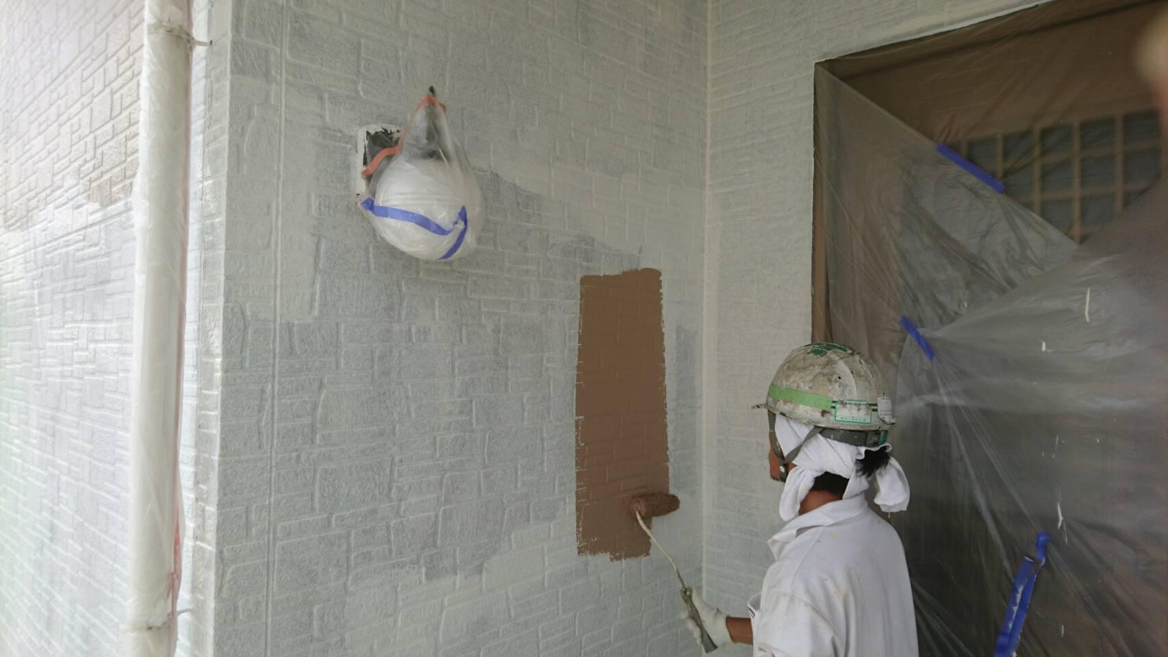 岡山県瀬戸内市M様邸 外壁中塗り