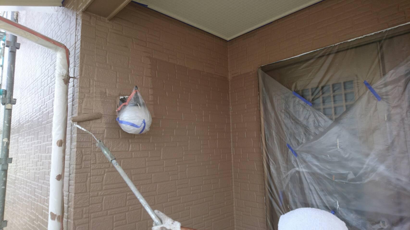 岡山県瀬戸内市M様邸 外壁上塗り