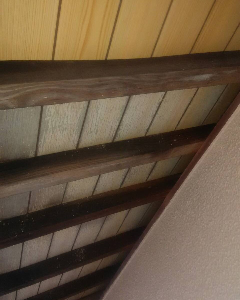 岡山市中区F様邸 軒の化粧ベニア板 張替え