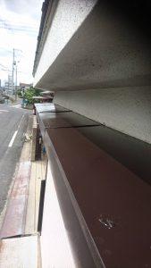 岡山市北区I様邸 部分塗装施工前 シャッターボックス上塗り