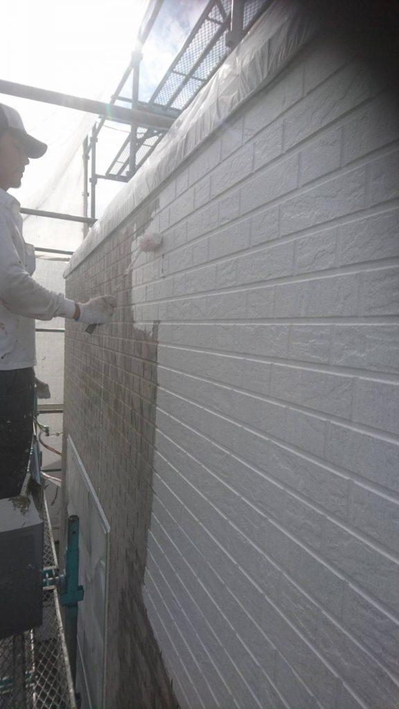 広島市S様邸 外壁下塗り