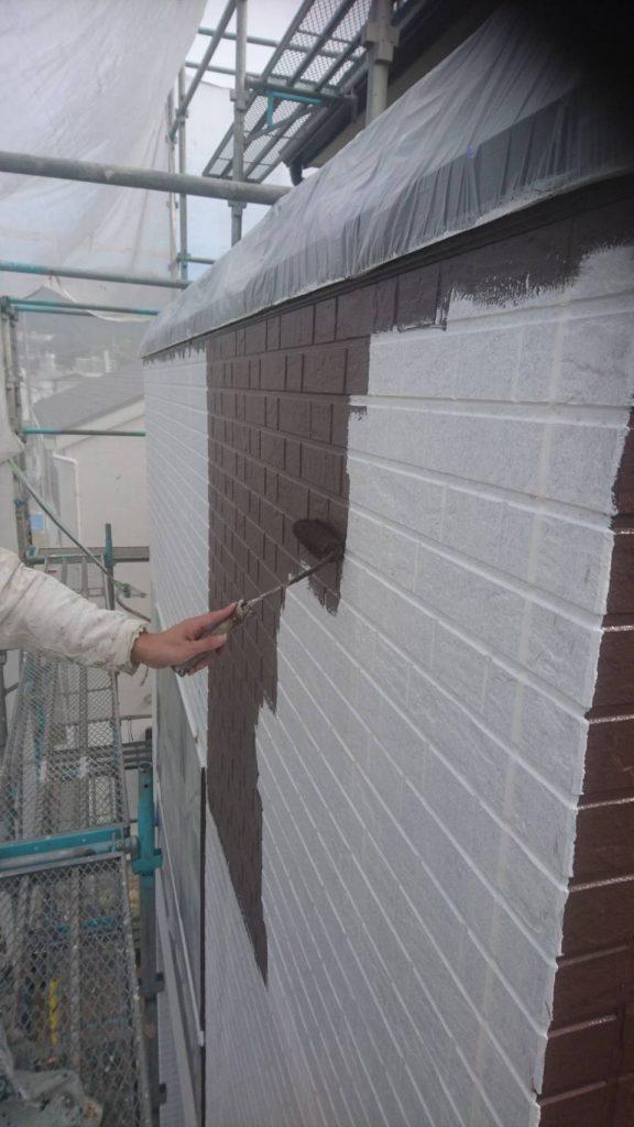 広島市S様邸 外壁中塗り