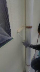 倉敷市N様 社屋 水性シリコン上塗り