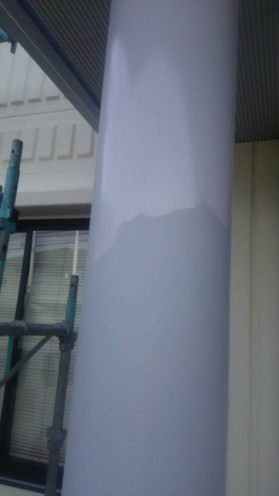 倉敷市N様 社屋 柱 錆止め後ウレタン塗り