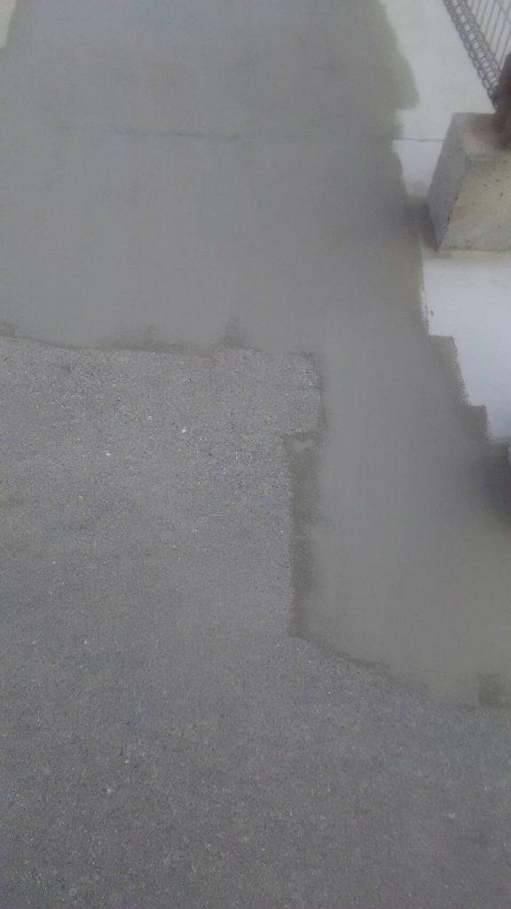 岡山市某グループホーム屋上 下地補修材