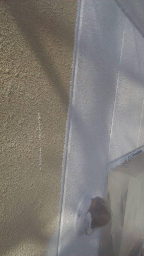 岡山市某グループホーム 外壁下塗り 微弾性フィーラー
