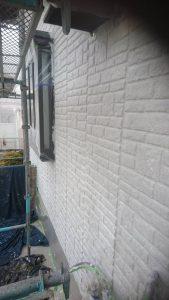 岡山市東区瀬戸町A様邸 外壁塗装下塗り
