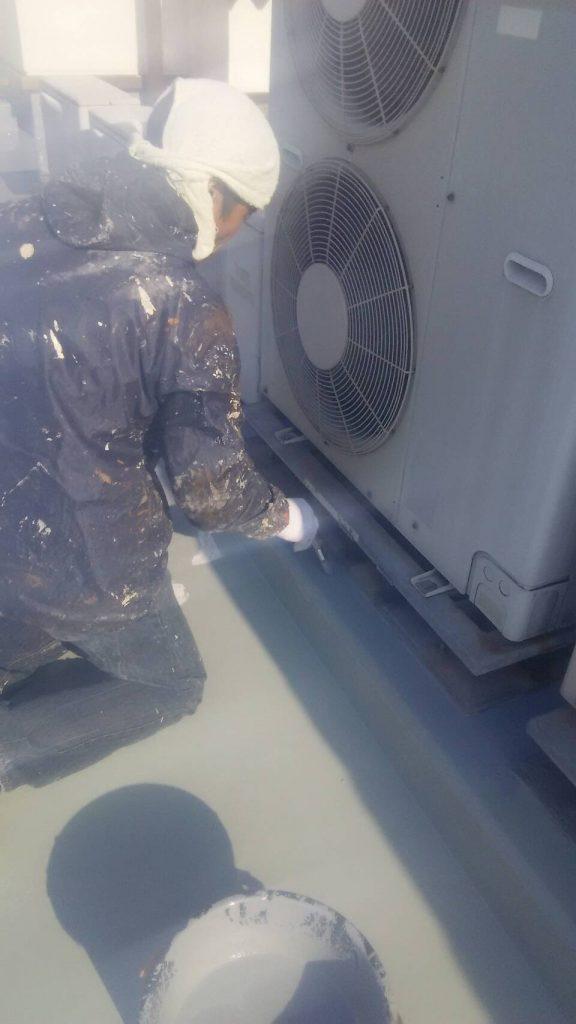 岡山市某グループホーム屋上 防水トップコート塗り
