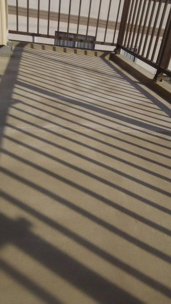 岡山市H様邸 ベランダ防水 下地処理