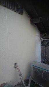 倉敷市N様邸 塗装現場(外壁) 下塗り作業