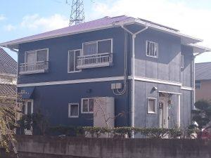 岡山市北区S様邸 外壁屋根塗装 施工後