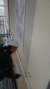 岡山市北区K様邸 外壁2階 中塗り