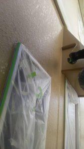 岡山市北区K様邸 外壁1階 中塗り