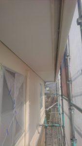 岡山市北区K様邸 軒天塗装上塗り