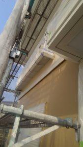 岡山市北区K様邸 外壁塗装上塗り後