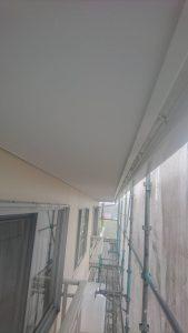 岡山市北区K様邸 外壁塗装後 軒天
