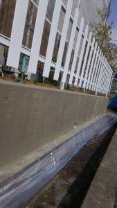岡山市北区K様邸 外塀下地処理