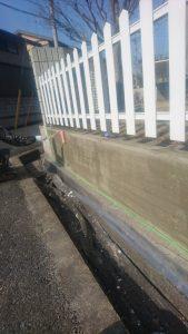 岡山市北区K様邸 外塀下塗り
