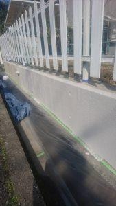 岡山市北区K様邸 外塀中塗り