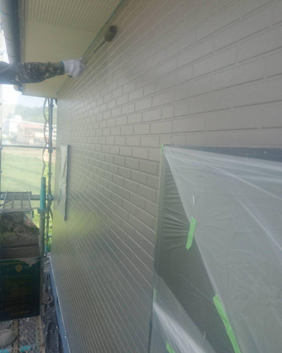 岡山市北区K様邸 外壁中塗り