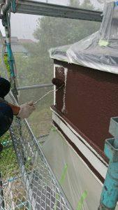 岡山市南区O様邸 外壁中塗り