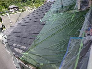 岡山市南区O様邸 塗装工事 屋根施工前