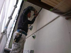 岡山市東区T様邸 塗装現場 下地処理