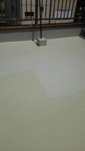 岡山市北区 K様邸 屋上防水工事 ウレタン塗り2回目