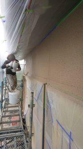 岡山市中区E様邸 吹付塗装