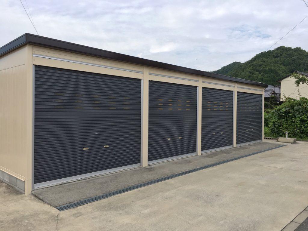 吉永町U様邸 車庫塗装完了