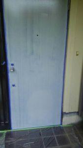 岡山市東区I様邸 ドア塗装 下塗り
