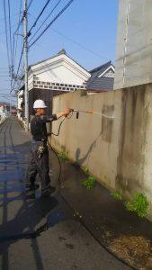 岡山市中区H様邸 高圧洗浄
