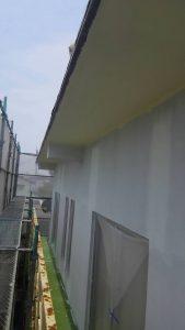 岡山市中区H様邸 軒天防カビ塗料塗り