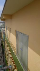 岡山市中区H様邸 外壁上塗り