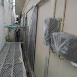 岡山市東区T様邸 塗装現場 中塗り完了