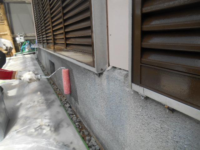 岡山市東区T様邸 塗装現場 基礎塗装
